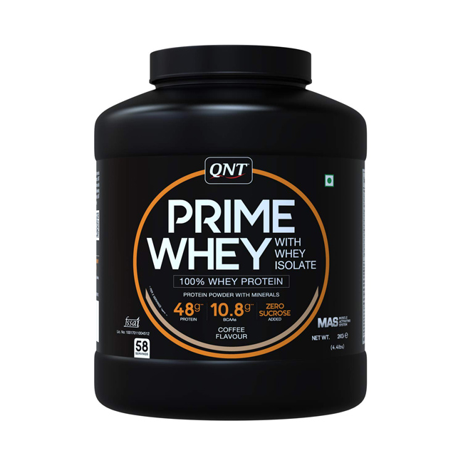 QNT Prime Whey Protein with whey isolate Coffee Flavour 2 KG